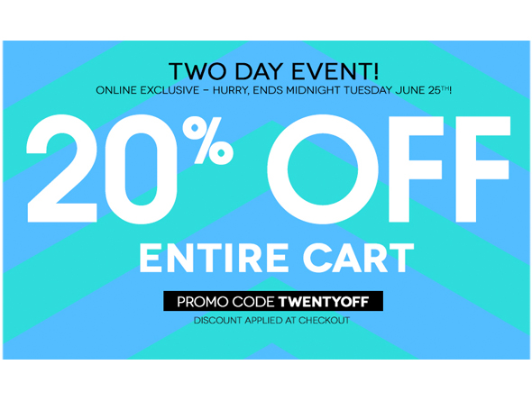 20%OFFTWODAY